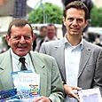 Avec Alain Houdry, Maire de Villemer