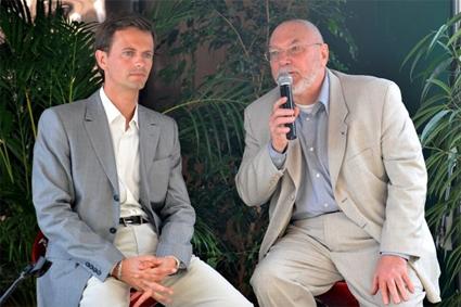 Avec Gérard Millet, Maire de Melun